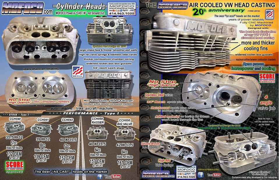 Mofoco Performance VW Cylinder Heads