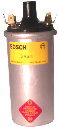 Bosch 6 volt Ignition Coil for 1968 and older Bug Beetle 00016