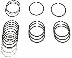 PISTON RING COMPLETE SET - 90MM - 1700CC - BUS 72-73