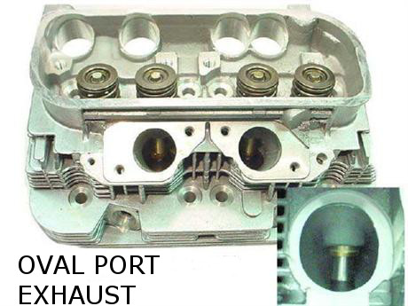 Cylinder Head, Oval Port, 1975-78 1/2 Type 4 VW Engine 039-101-061D