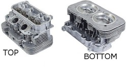 2.0 L Vanagon Cylinder Head Square Port With Valves Brand New Sold Each