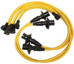 Yellow VW Bug Spark Plug / Ignition Wires