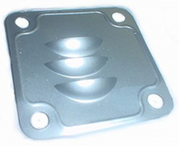 OIL FILLER DEFLECTOR PLATE