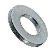 1258108001  M 8 Flat Washer, Steel Zinc. DIN 125A / ISO 7089