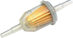 UNIVERSAL FUEL FILTER FITS 6 & 8MM FUEL HOSE