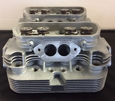 Pair of Mofoco 040 Dual Port New Cast Stock Cylinder Heads 92mm Bore