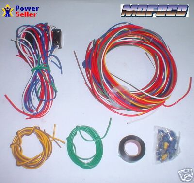 9466b mofoco empi 9466 vw bug buggy universal wire harness fuse box VW Wiring Harness Kits at aneh.co