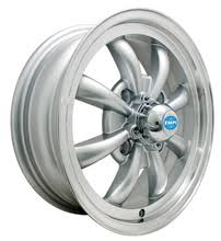 EMPI 9685 GT-8 Wheels Silver w/Polished Lip