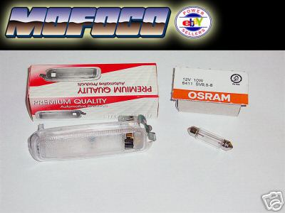 VW TYPE 1 BEETLE BUG INTERIOR DOME LIGHT &  BULB 111-947-111E OSRAM 6411