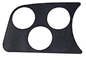 EMPI 14-1001 Black 3 Gauge Hole Dash Panel Vw Bug