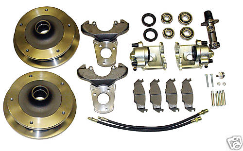"EMPI 22-2880 Front Disc Brake Kit, Link Pin, 5 lug, 5/205, 15"" Rims to 65"