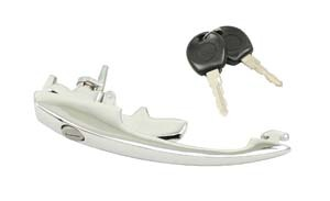 Outer Door Handle w/keys, 60-64 Sold as Pair