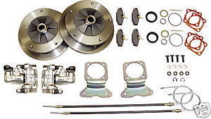 VW Type 1 Wide 5 Lug Rear Disc Brake Kit - Zero Offset w/Ebrake