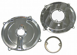 EMPI 9056 VW BUG ALTERNATOR/GENERATOR BACKING PLATE CHROME TIN
