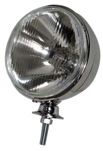 EMPI 9305 7 INCH CHROME HEADLIGHT W/ 12-VOLT H4 55/60W BULB, EACH