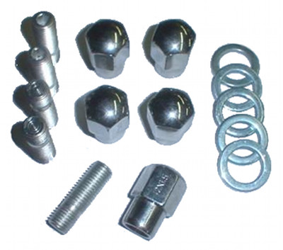 EMPI 9510 CHROME NUT STUD KIT 12MM 1.5 MAG