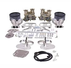 K 317 Weber 40MM IDF Dual type 1 carburetor kit with chrome air cleaners