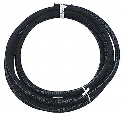 VW BUG BUS 7MM CLOTH BRAIDED FUEL GAS LINE HOSE 5 FEET