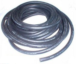 VW BUG ENGINE HI-TEMP PRESSURE OIL COOLER FILTER HOSE 1/2 INCH I.D. BLACK PER FOOT