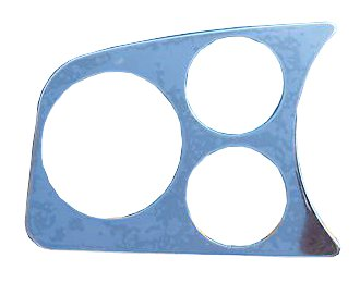 EMPI 14-1004 Chrome 2 Gauge/1 Tach Hole Dash Panel Vw Bug