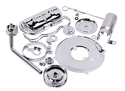 Empi Vw Engine Super Chrome Tin Shroud Kit on 36 Hp Vw Engine Parts