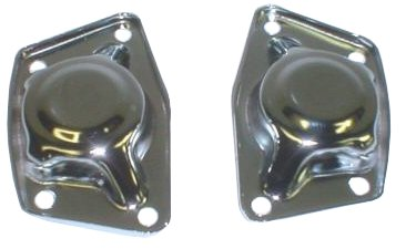 EMPI 9545 CHROME TORSION BAR/SWING PLATE COVERS W/O HOLES VW BUG