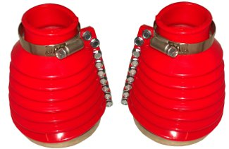 EMPI 9981 VW BUG SWING AXLE TRANSMISSION BOOT KIT RED BOOTS