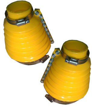 EMPI 9983 VW BUG SWING AXLE TRANSMISSION BOOT KIT YELLOW BOOTS